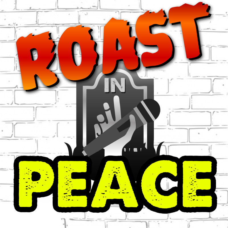 Roast in Peace Television show logo design by Melissa Judson
