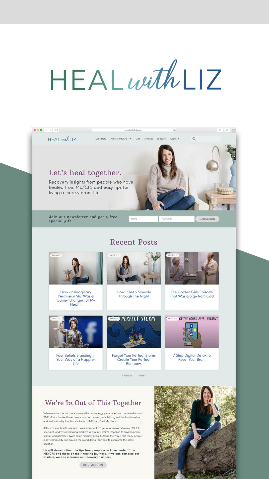 Heal with Liz Website Homepage Designed by Mel Judson Branding & Web Design