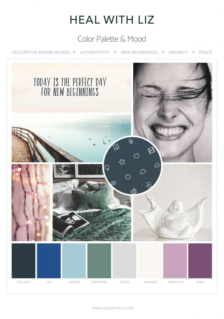 Heal with Liz Mood Board Designed by Mel Judson Branding & Web Design