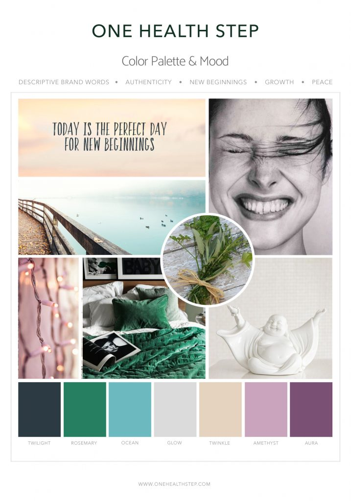 Heal with Liz Mood Board 2 Designed by Mel Judson Branding & Web Design