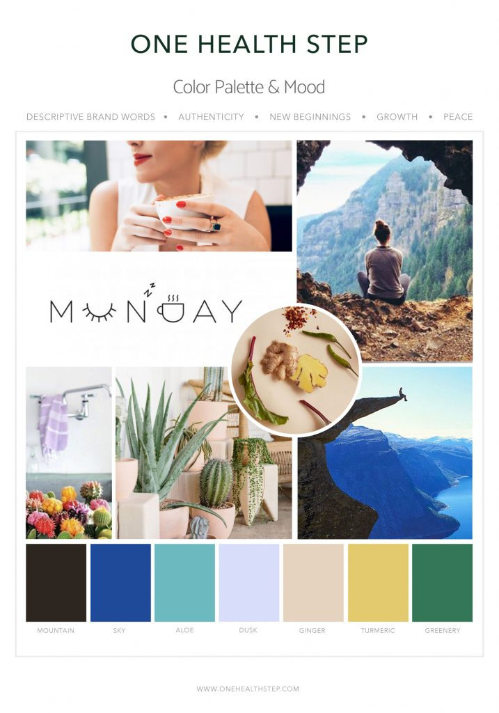 Heal with Liz Mood Board 3 Designed by Mel Judson Branding & Web Design