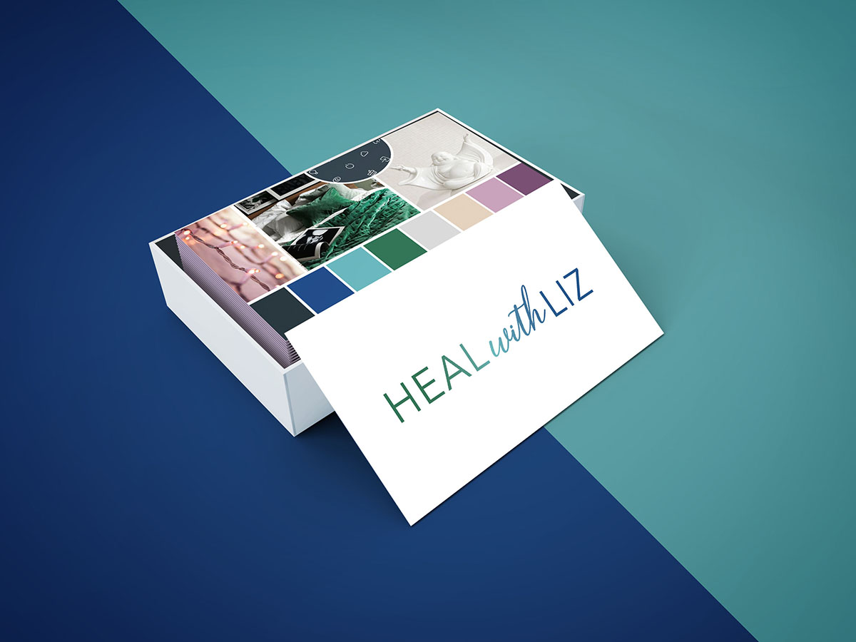 Heal with Liz Business Card Designed by Mel Judson Branding & Web Design
