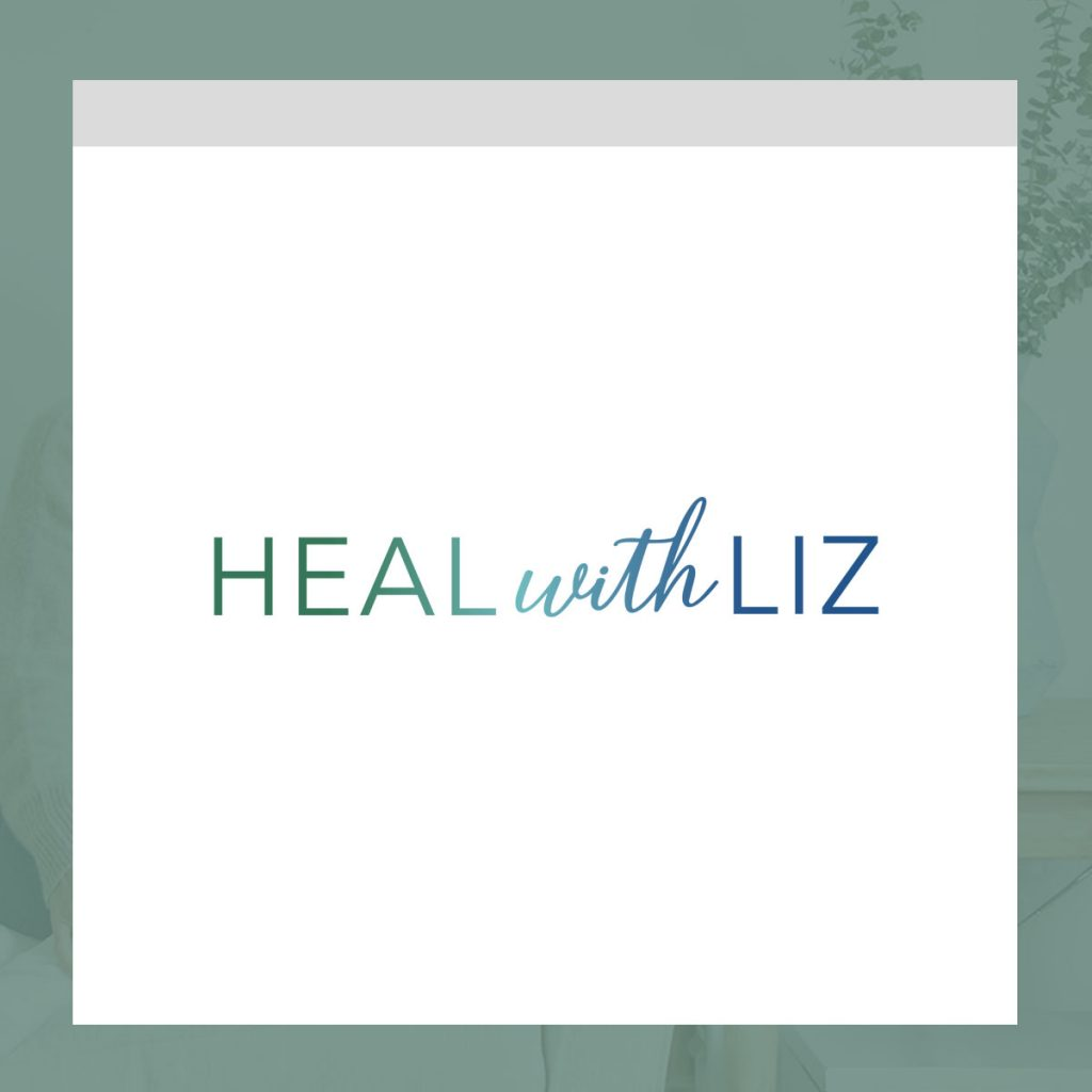 Heal with Liz Logo Designed by Mel Judson Branding & Web Design