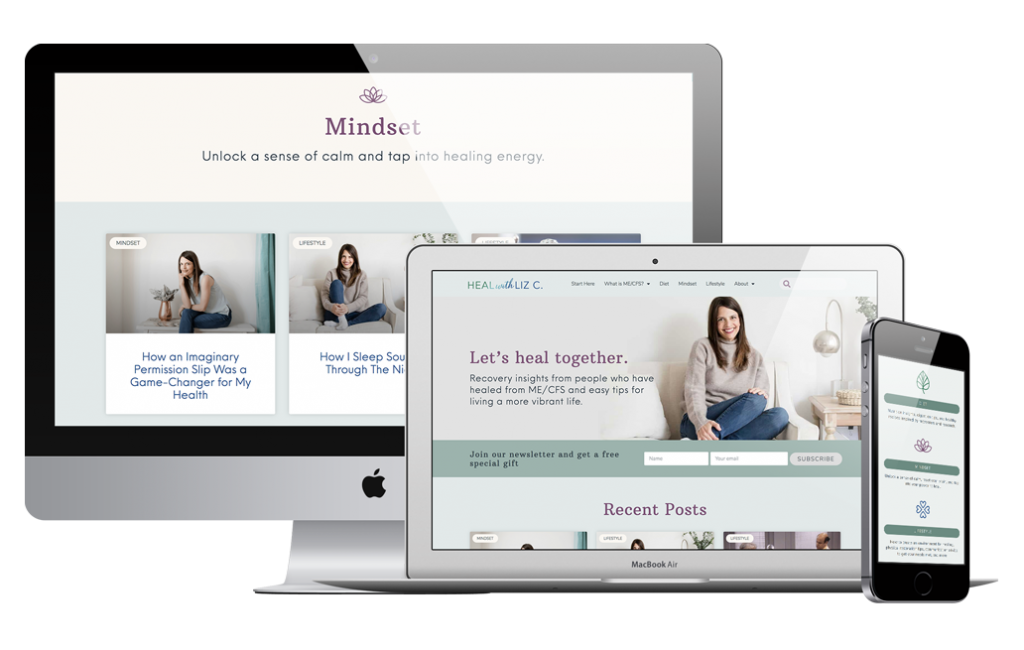 Heal with Liz Website Designed by Mel Judson Branding & Web Design